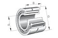 Needle Roller Bearings NKI Single Row with Inner Ring