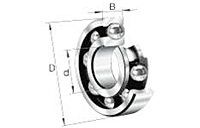 Deep groove ball bearing series-6000, 6200, 6300, 6400, max-capacity