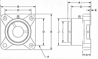 Type E 4-Bolt Flange Heavy Duty