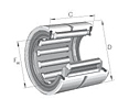Needle Roller Bearings RNA 6900 Series Double Row without Inner Ring